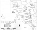 Map of Coast Miwok settlements, California