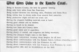 What gives value to the Rancho Cotati