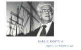 Karl Kortum memorial card