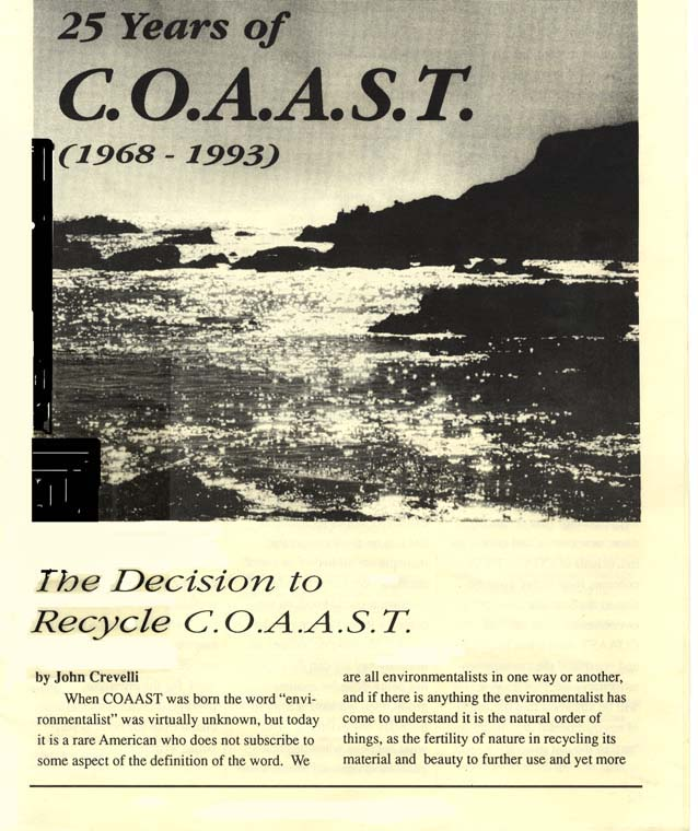 25 years of COAAST (1968 - 1993)