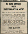 40 acre ranches with sweeping ocean views