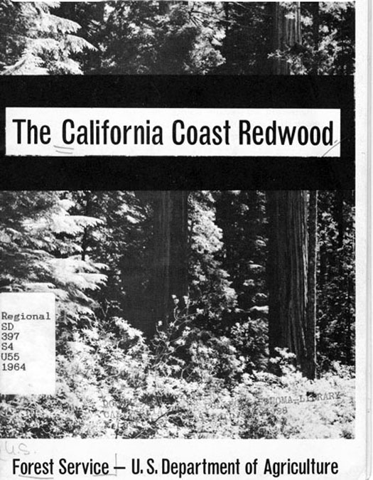 California coast redwood (Sequoia semperviren): Statistics and observations on land management