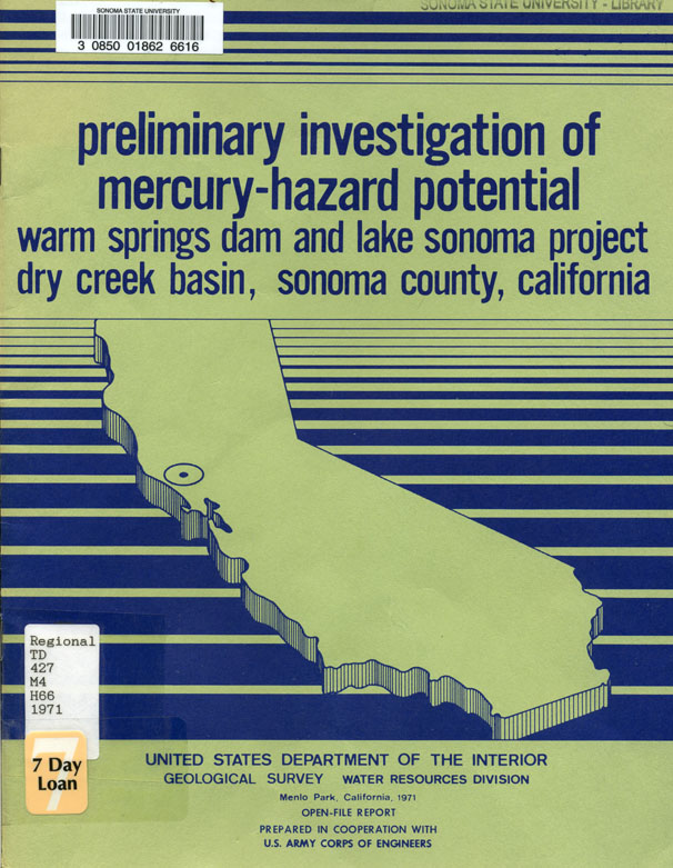 Preliminary investigation of mercury-hazard potential: Warm Springs Dam and Lake Sonoma Project,...