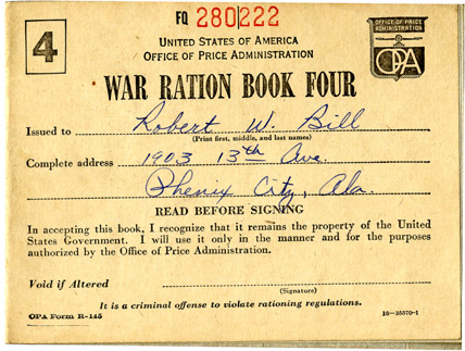 War ration book four FQ 280222