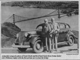 Frank Doyle and Santa Rosa Dodge dealer J.H. Williams (right)