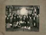 Group portrait in banquet room