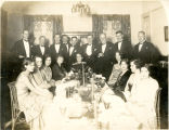 Formal banquet group portrait, including Roy Maxwell Talbot