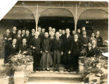 Group portrait of officers and employees