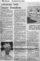 When American citizens lost their freedom, newspaper article, The Press Democrat, September 15,...
