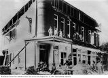 Guerneville Oddfellows building after the 1906 earthquake